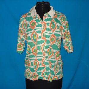 Motifs Tops - Vintage Woman's Polo Shirt Size M NWT